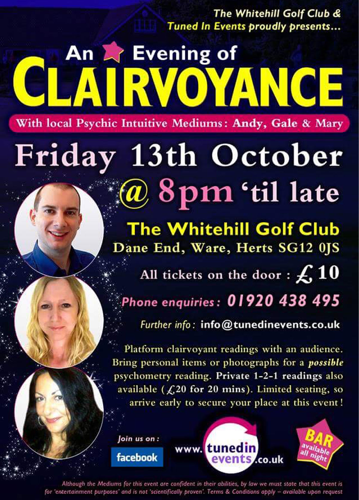 A evening of clairvoyance